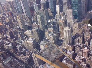 Snap from the Empire State risking my lovely phone